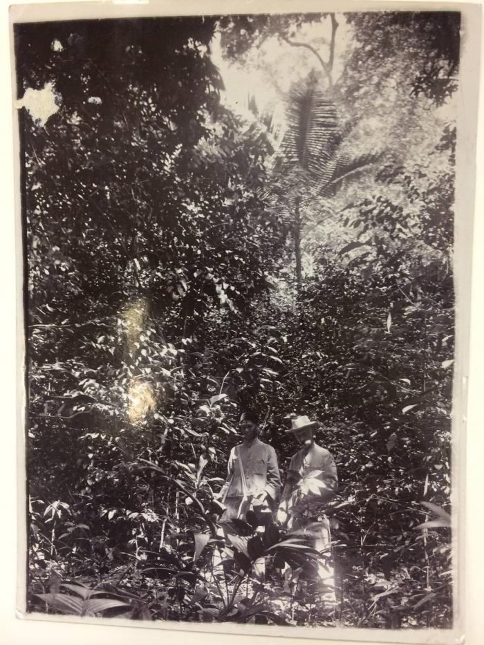 Photograph of botanist Henry Ridley on a plant hunting expedition