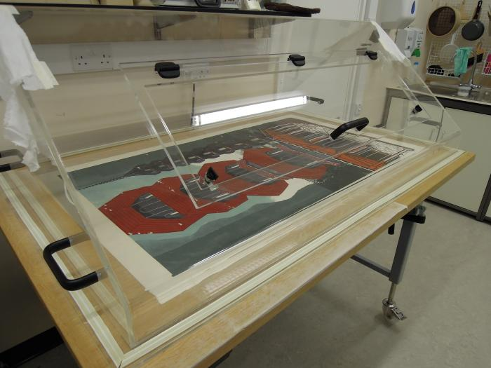 Flattening and drying print