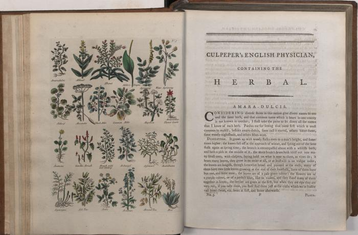 Culpeper's English physician ; and complete herbal, by Nicholas Culpeper, London : Printed for the author, 1794, p. 49.