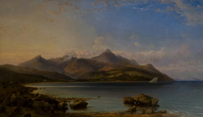 Photo of Brodick Bay by George Hearing