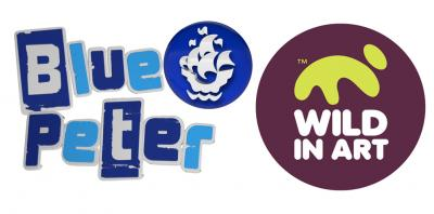 Blue Peter and Wild In Action logos