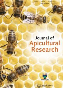 Photo of the cover of the Journal of Apicultural Resarch. Available to read at Kew Gardens' Library.