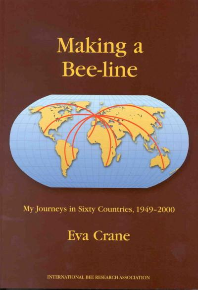 Photo of cover of Eva Crane's 'Making a Bee-line: my journeys in sixty countries, 1949-2000.'