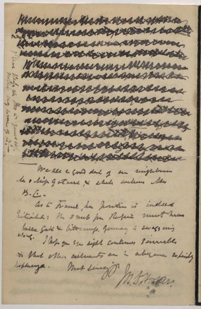 Joseph Hooker letter to La Touche October 24th 1898